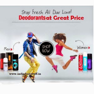 Buy Deodorants upto 39% off from Rs. 110 only at Snapdeal.