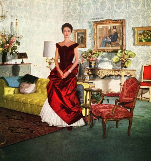 Babe Paley in a Charles James gown
