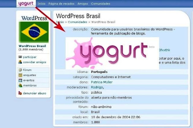 Orkut vira Yogurt