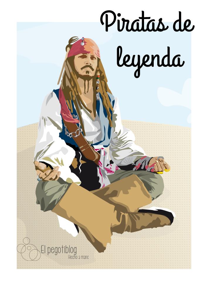 Retrato vectorial - Jack Sparrow - El Pegotiblog