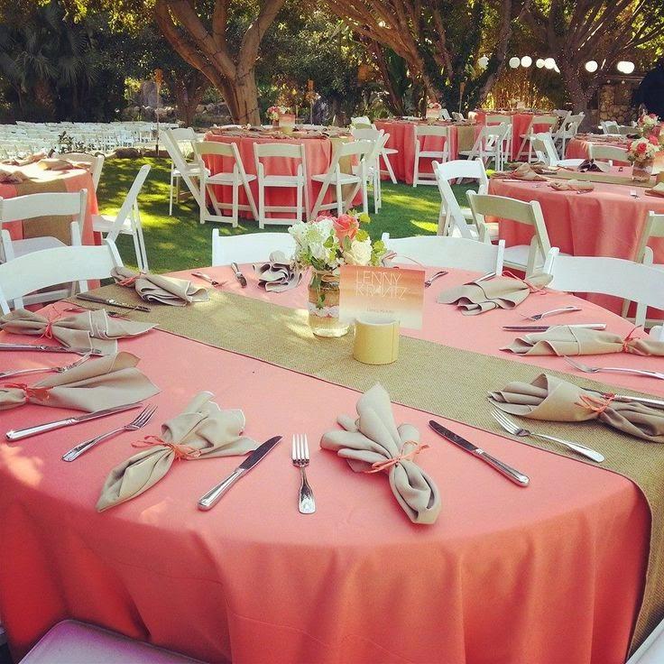 ideas para decorar tu boda en color coral - ▷ blog de bodas