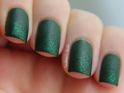China Glaze - Holly-Day + China Glaze - Emerald Sparkle Matte