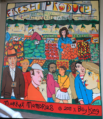 Billy King's Market Memories Mural
