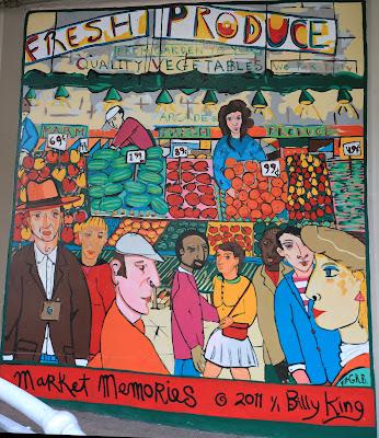 Billy King's Market Memories Mural