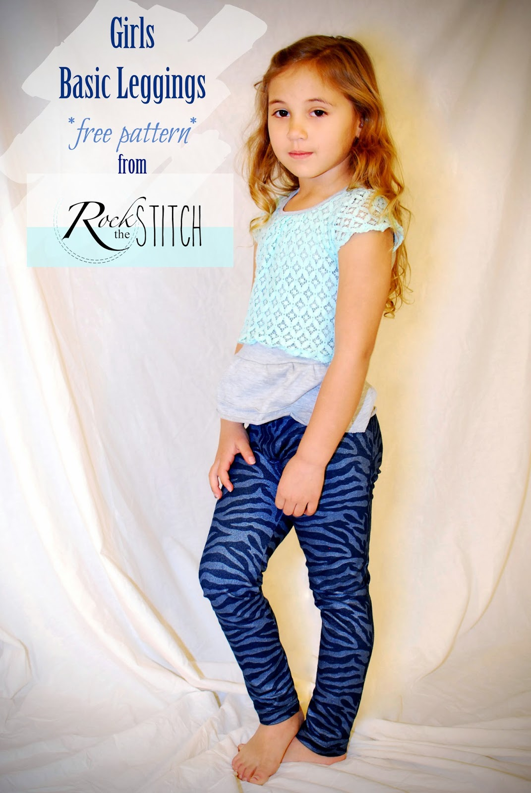 Rock the stitch girls basic leggings free pattern scroll down for tutorial and pattern baditri Choice Image