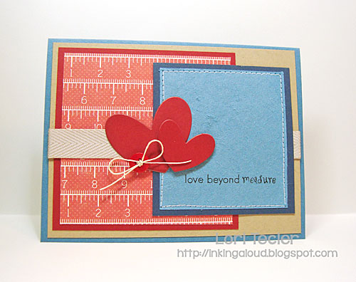Love Beyond Measure card-designed by Lori Tecler/Inking Aloud-stamps and dies from Clear and Simple Stamps