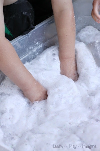 Foam dough sensory play