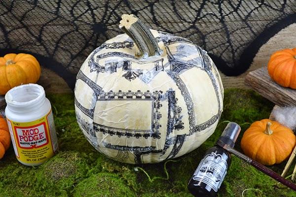 Decoupage Pumpkins Gypsy Style , The Creative Studio