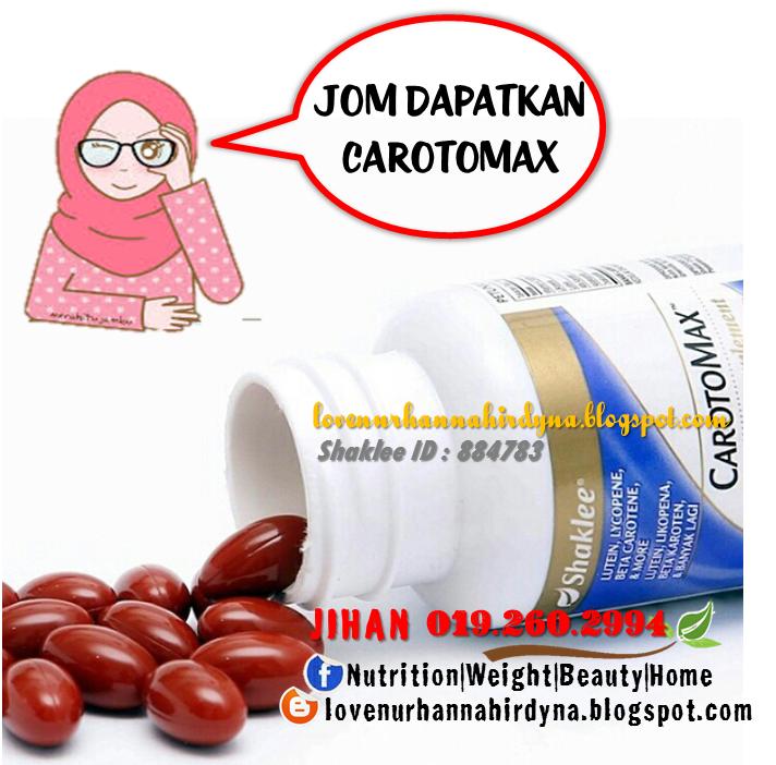 Carotomax shaklee testimoni