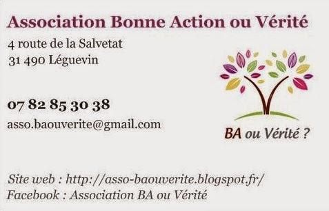 Association Bonne Action Ou Vrit Une Pense Pour Les Oublis