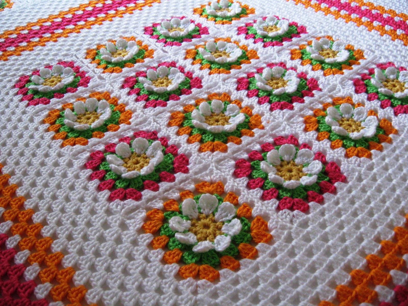 Плед цветочная поляна схема