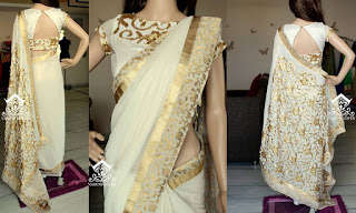 SANDAL COLOUR SAREE