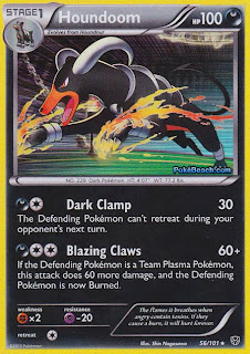 Houndoom Plasma Blast Pokemon Card