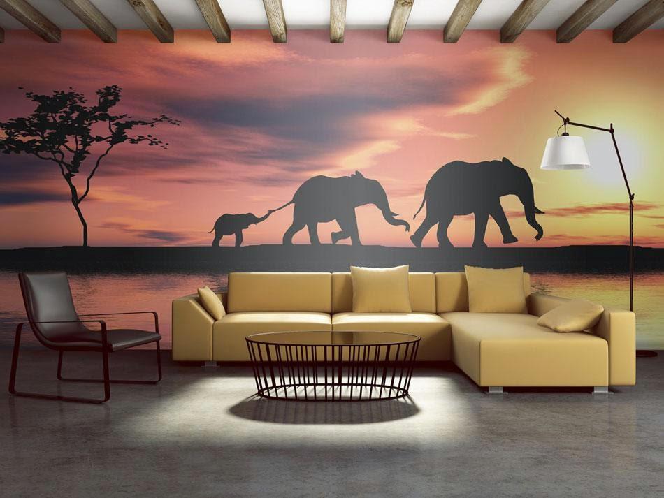 Moderne wandgestaltung wanddekoration und dekoideen bimago - Decoracion de salones pintura ...