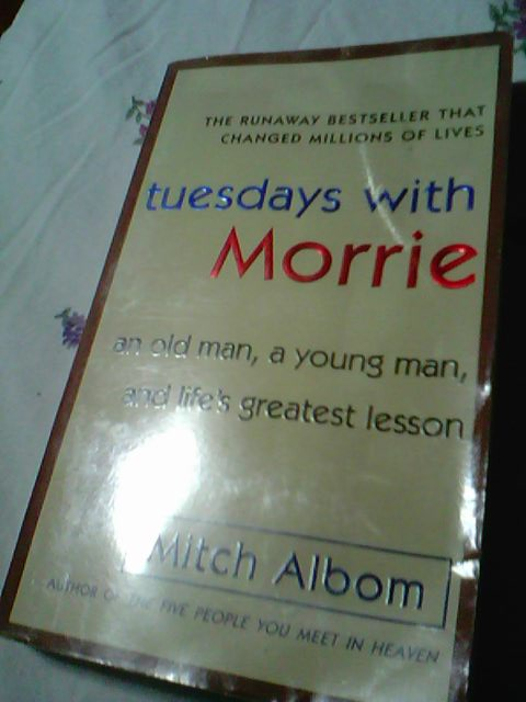 a review of the novel tuesdays with morrie by mitch albom Mitch albom's 6 book set (tuesdays with morrie, have a little faith, for one more day, five people you meet in heaven, time keeper, first phone call from heaven by mitch albom (goodreads author) 433 avg rating — 9 ratings.