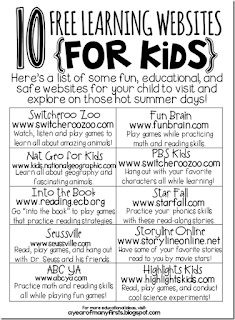 http://ayearofmanyfirsts.blogspot.com/2013/05/summer-review-websites-for-kids.html
