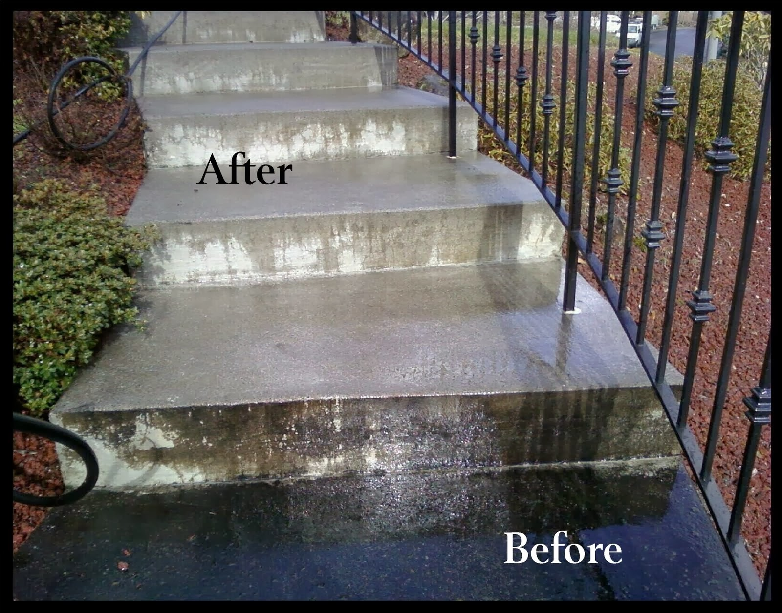 Hydro power wash concrete cleaning for How to clean dirty concrete