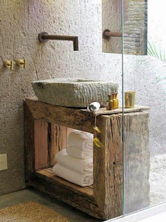 Stone and Wood ian the bathroom
