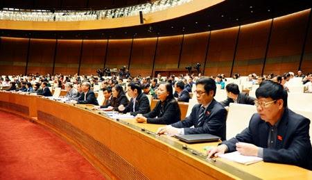 Quốc hội trong phiên họp toàn thể tại hội trường