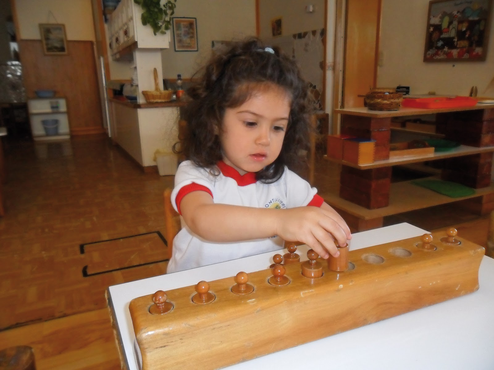the sensorial area The montessori teacher can create a prepared environment and montessori  sensorial activities and materials for the child with sensory.