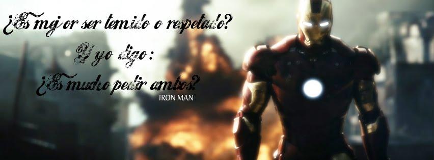 IRON MAN FRASE[PORTADA PARA FACEBOOK]PORTADA PARA FACEBOOK