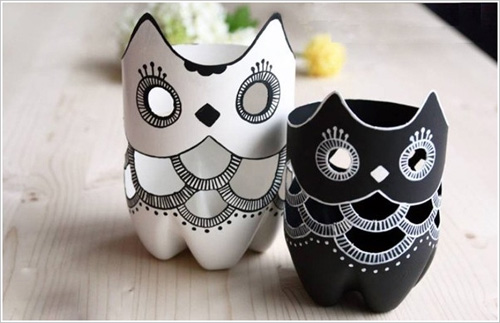 My Owl Barn Diy Plastic Bottle Owl Vases