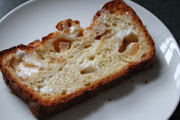 Slice of apple cinnamon bread