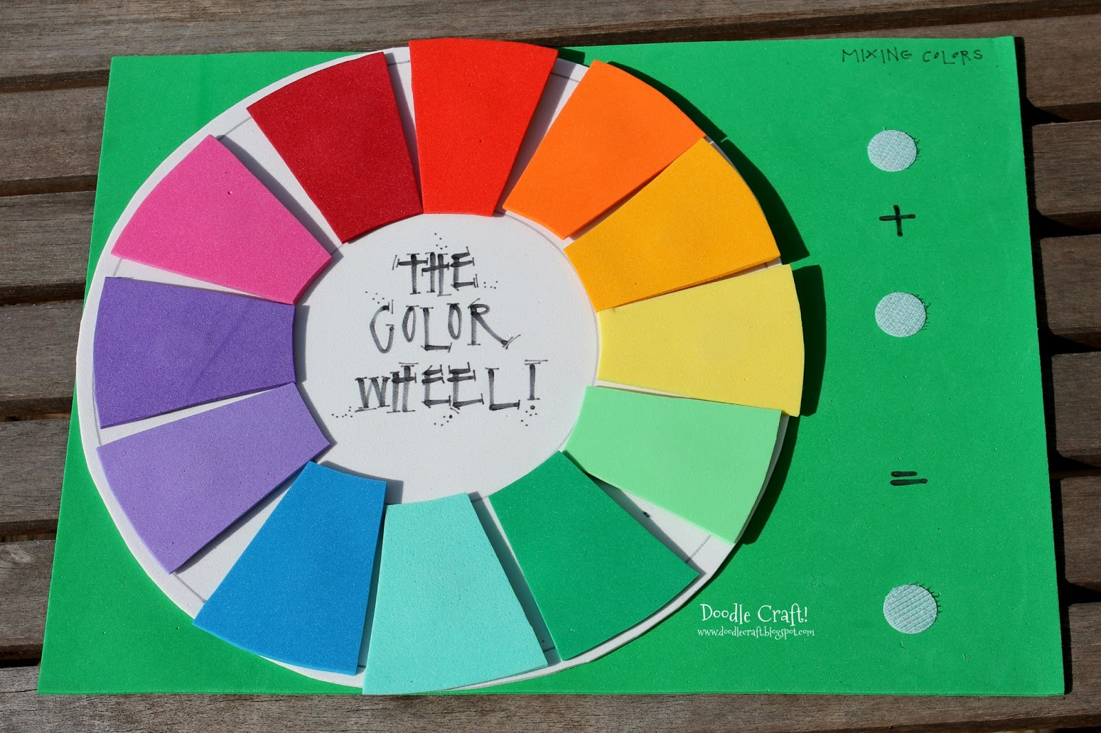 Doodlecraft: Fun Foam Color Wheel Teaching Aid!