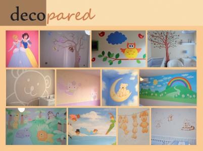 Decopared decoraci n de paredes con murales pintados - Murales para ninas ...