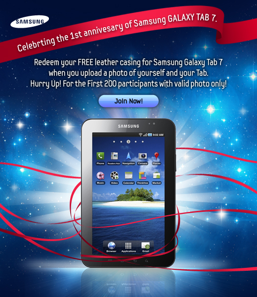 Celebrate the Samsung Galaxy Tab 7 Anniversary In Style