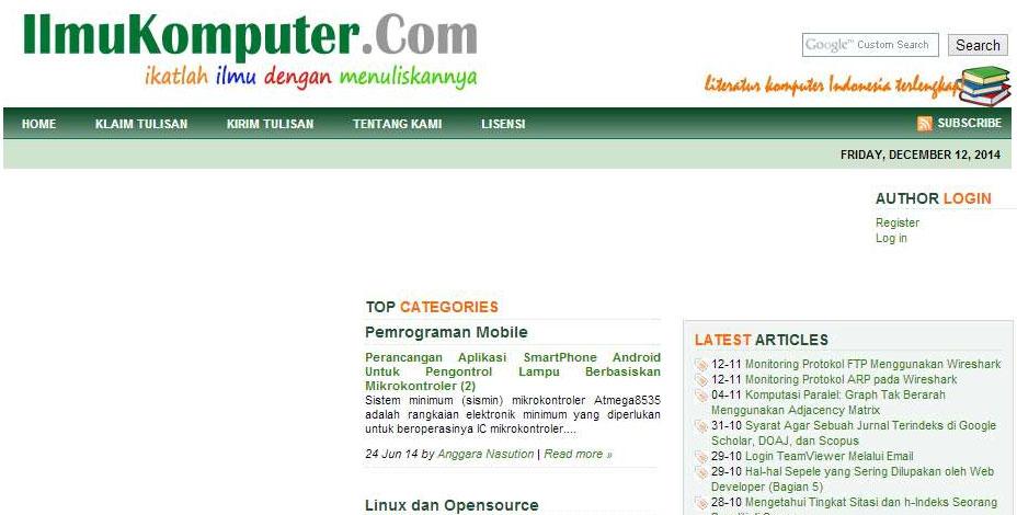 Situs Belajar Pemrograman Web Bahasa Indonesia