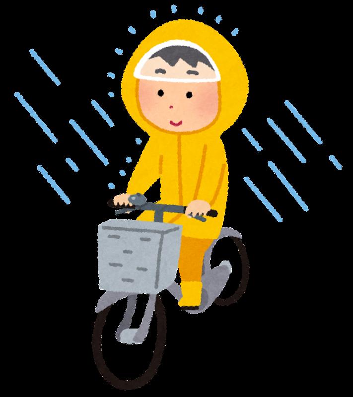 雨の日の自転車におすすめグッズ|レインコート/傘/手袋/靴