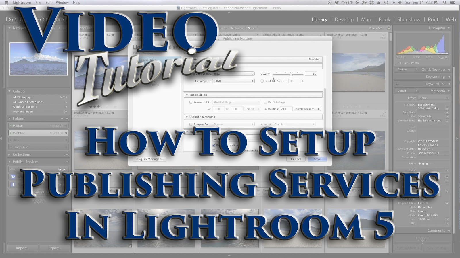 Learn How To Setup Publishing Services In Lightroom 5