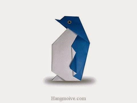Cách gấp, xếp con chim cánh cụt bằng giấy origami - Video hướng dẫn xếp hình sinh vật dưới nước - How to fold a Penguin