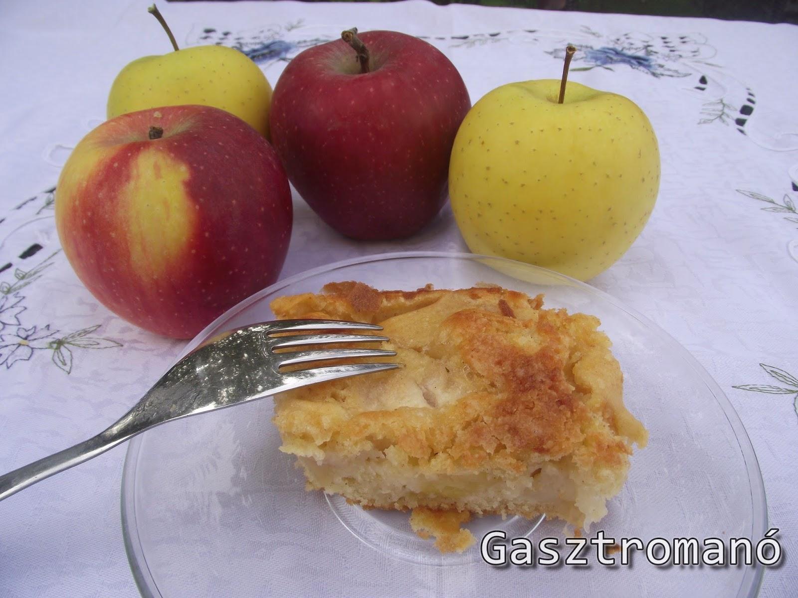 almás kevert süti