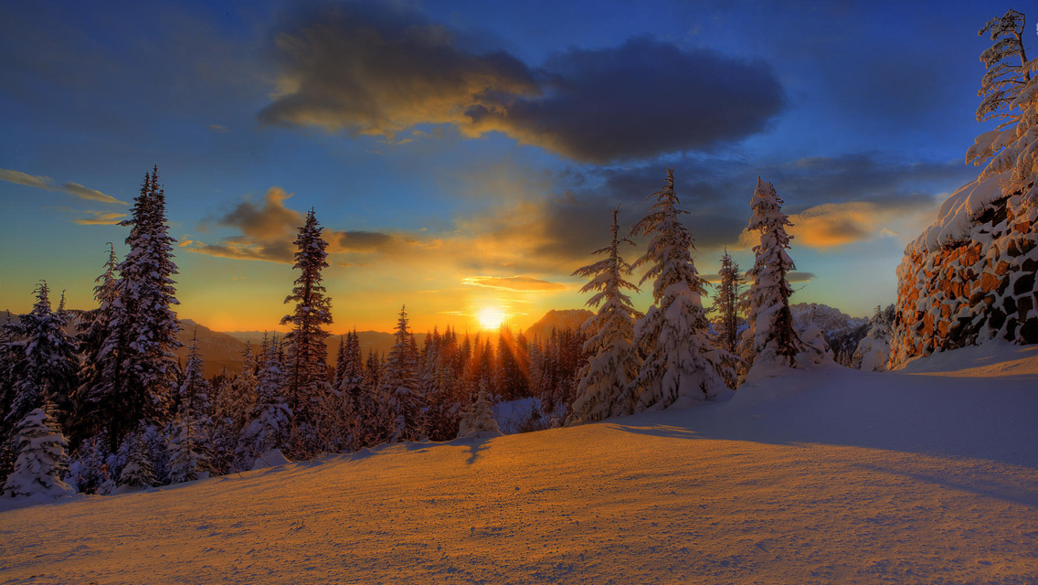 Winter Sunset Wallpapers - Full HD wallpaper search