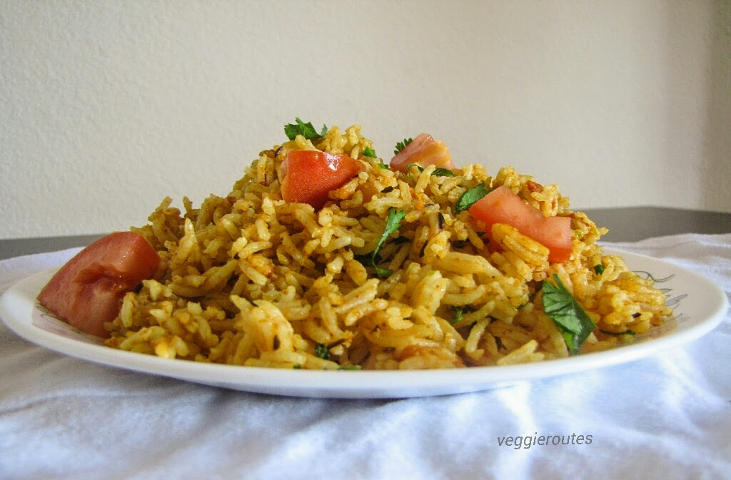 tomato rice is spicy and tangy preparation of tomatoes and rice this ...