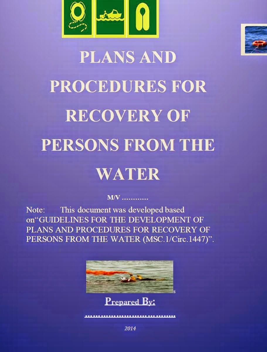 PLANS AND PROCEDURES FOR RECOVERY OF PERSONS FROM THE WATER