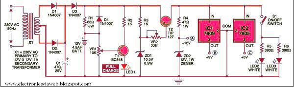 mini ups system electronicsviaweb rh electronicsviaweb blogspot com Converter Circuit Diagram Schematic Circuit Diagram