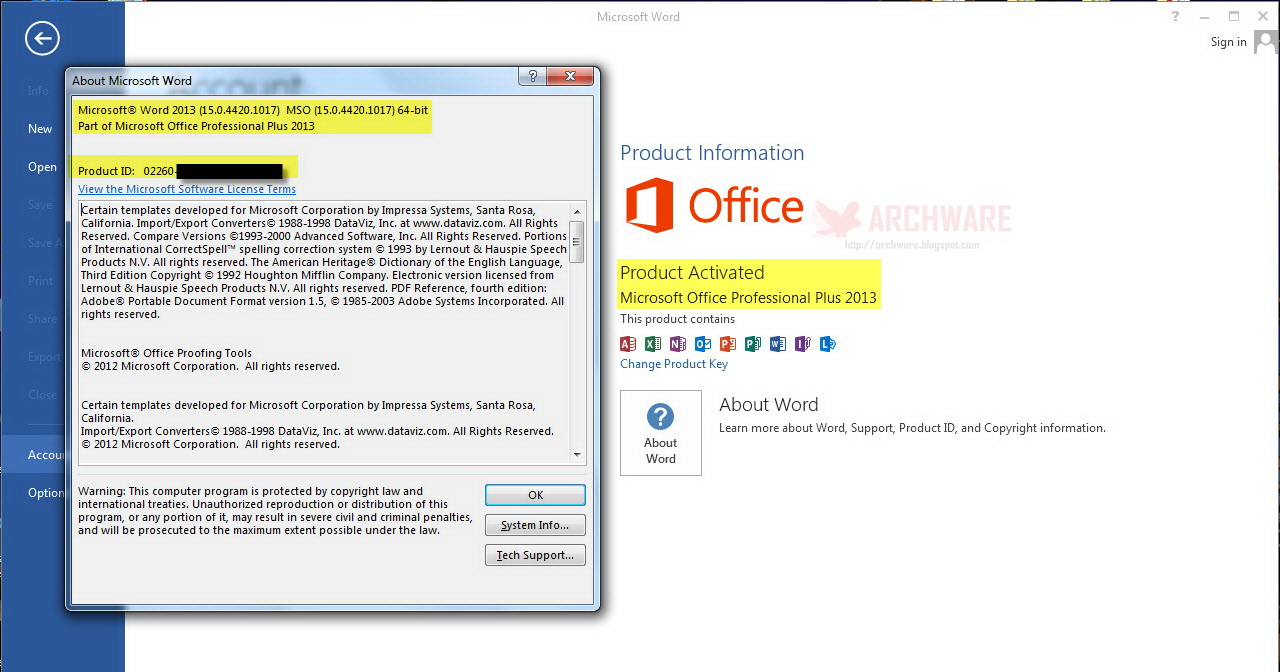 Free microsoft office 2013 professional plus trial - Activation office professional plus 2013 ...