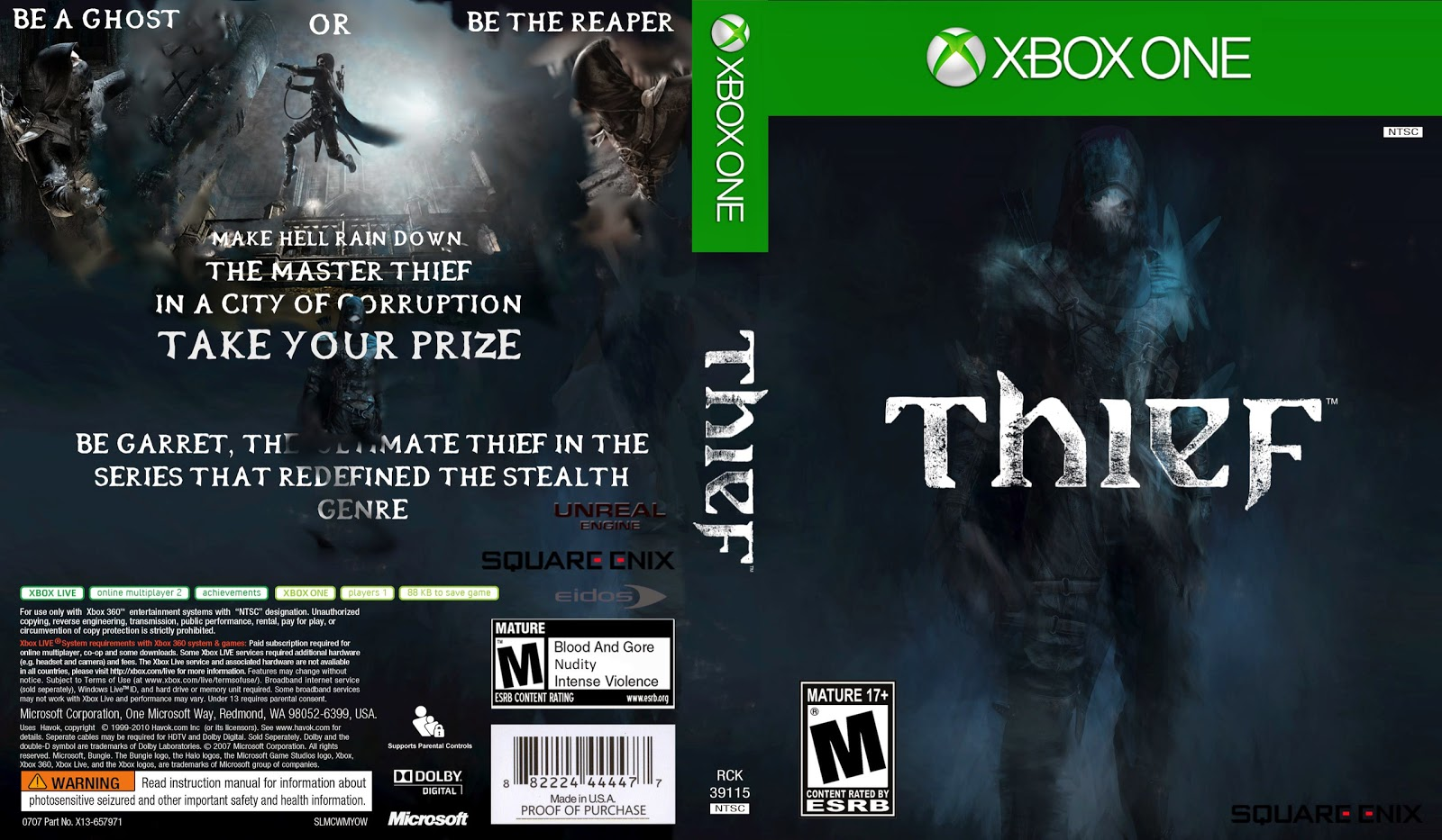 Capa Thief Xbox One