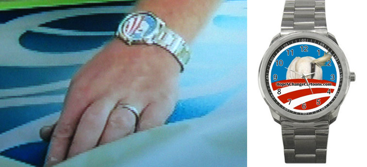 Rick Bacon wears Hope n' Change watch on Spike TV's Musclecars, hopenchange, hope and change, stilton jarlsberg