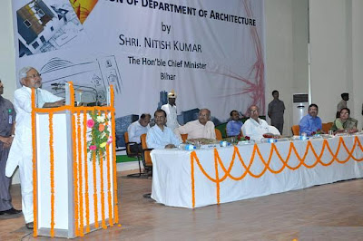 Chief Minister Nitish Kumar inaugurates Architecture Deptartment at BIT Patna on Saturday
