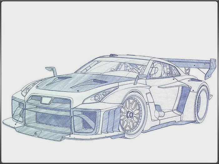 Race Car Drawings In Pencil