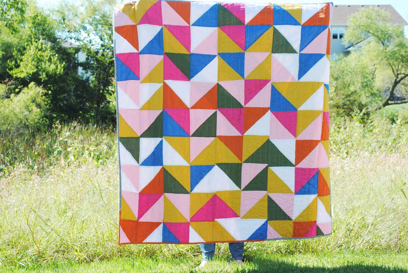 grace and light: HALF SQUARE TRIANGLE QUILT : half square triangle quilt - Adamdwight.com