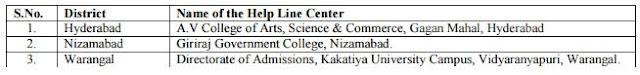 Helpline Centers for Certification Verification EDCET B.Ed