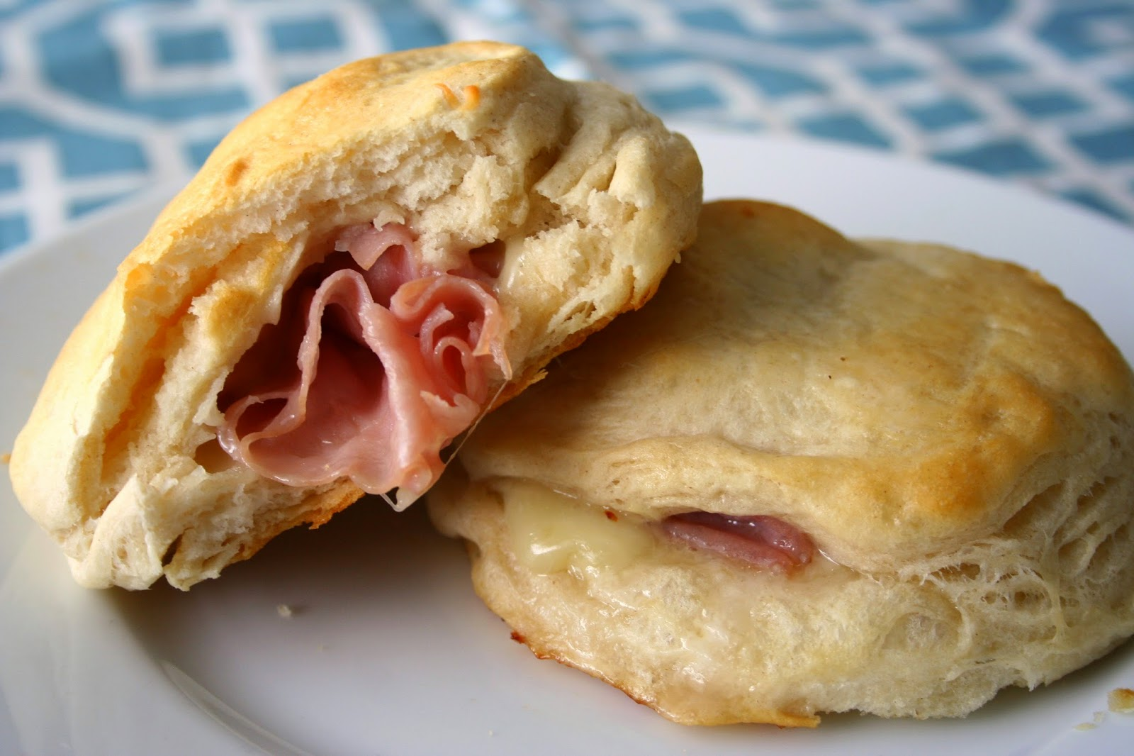 ... biscuits and they are even better with some ham and cheese stuffed