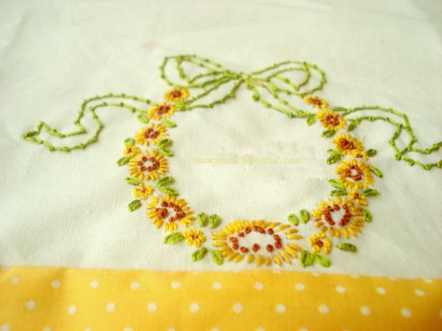 My Experiments With Needle N Thread Embroidered Pillowcase 2