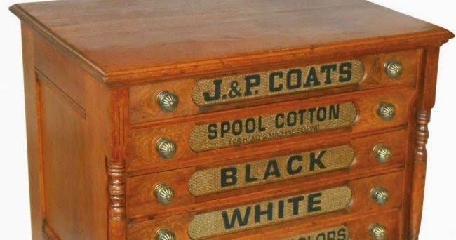 ANTIQUE FURNITURE PARTS: SPOOL CABINET SUPPLIES DECALS J&P COATS ...
