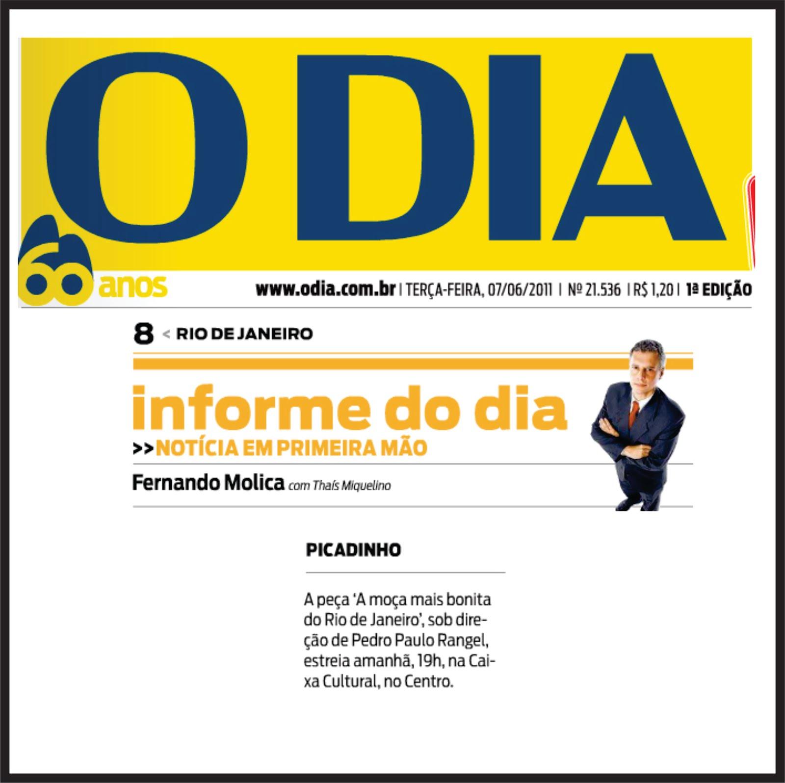 A MOÇA MAIS BONITA DO RIO DE JANEIRO